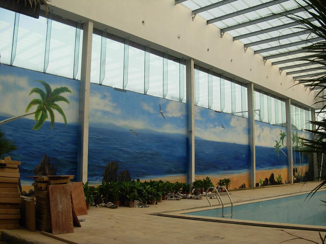 【大型景观壁画项目案例】——焦作锦绣云台度假山庄